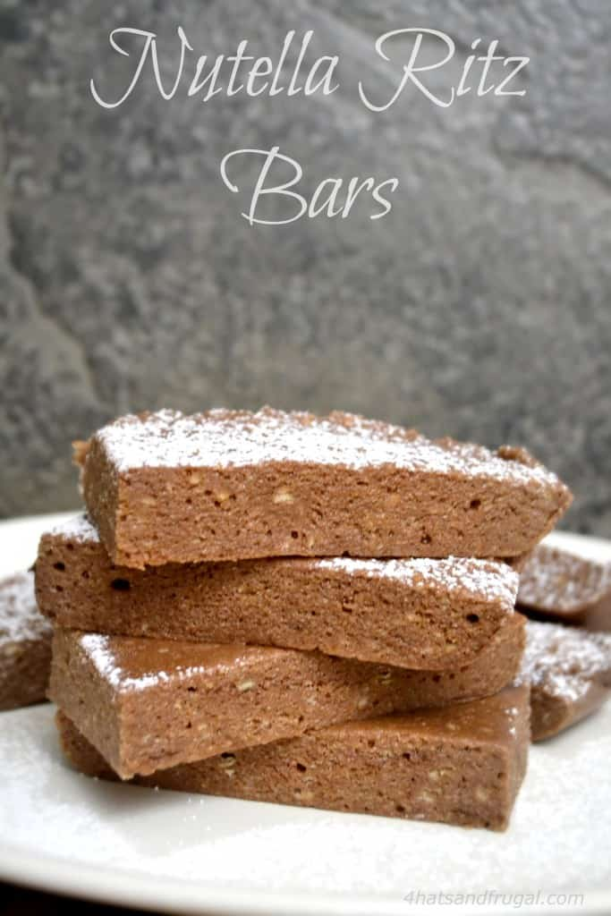 Nutella Ritz Bars; a no-bake recipe that even the kids can make!