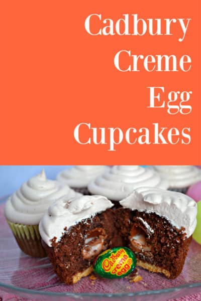 Leaving mini cadbury creme eggs on their own is so boring. Here's an awesome recipe for cadbury creme egg cupcakes. Perfect for an Easter treat!