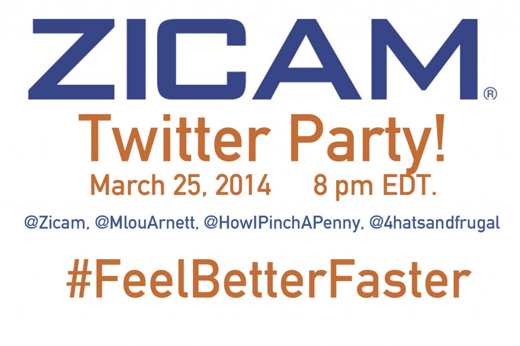 #FeelBetterFaster twitter party with Zicam CEO M'Lou Arnett
