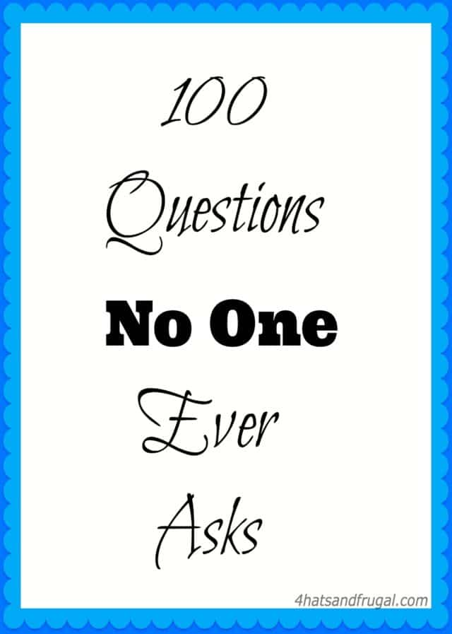 This 100 Questions No One Ever Asks video tag is hilarious and fun. Try it out today with your friends and family, and see if they answer #88 truthfully!
