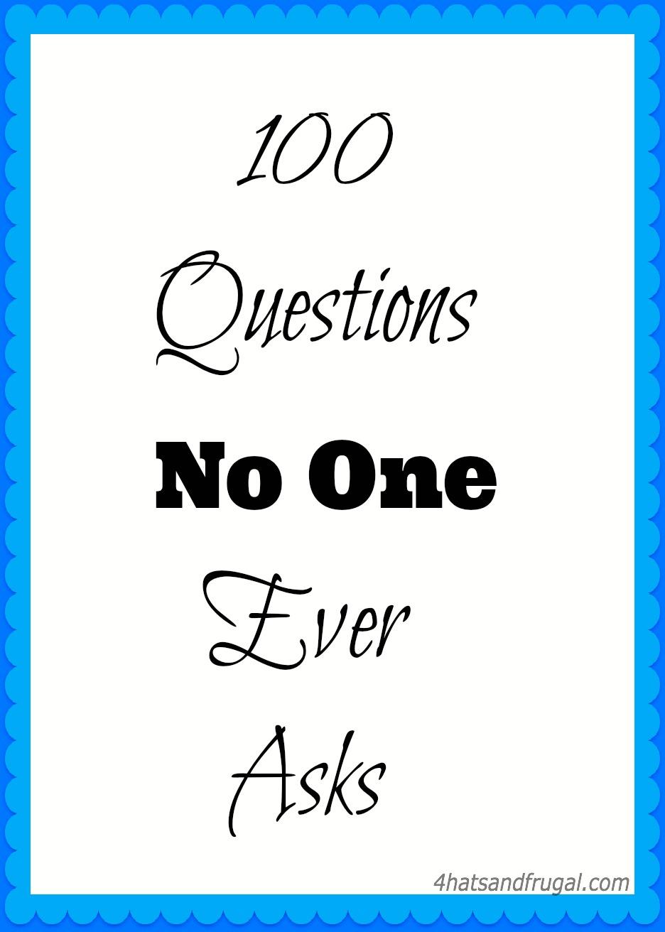 100 embarrassing questions