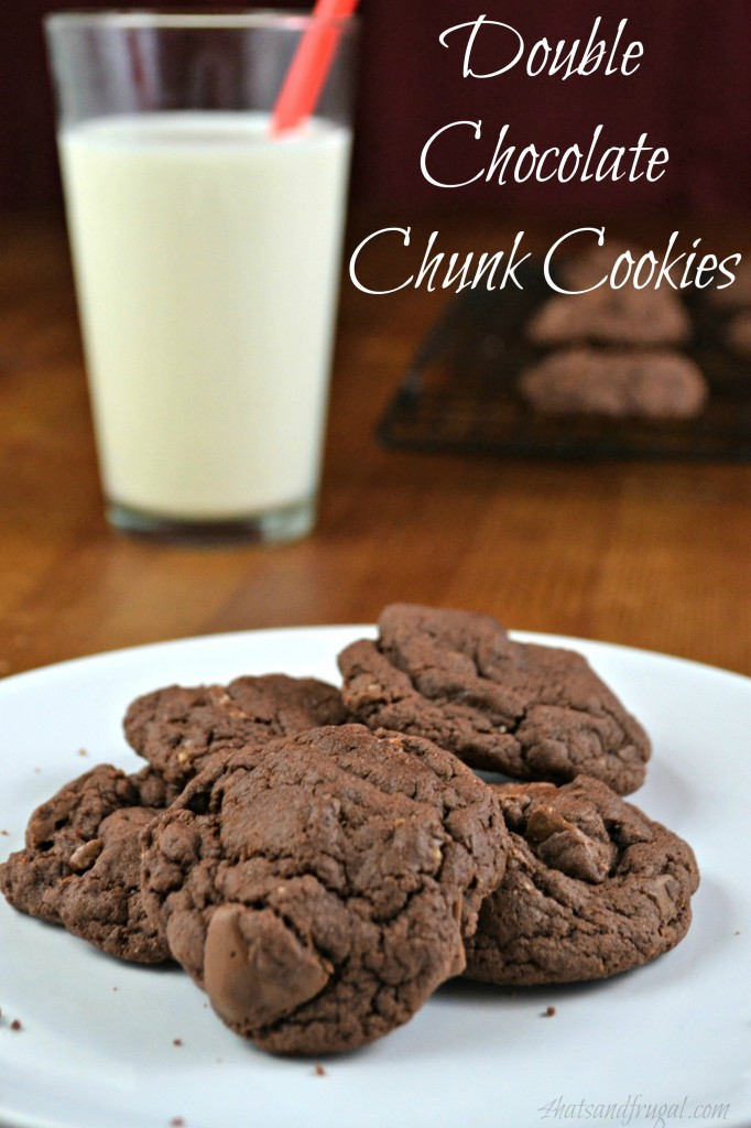 This recipe for double chocolate chunk cookies is very easy, and the taste is addictive! The addition of coffee really increases the chocolatey flavor.