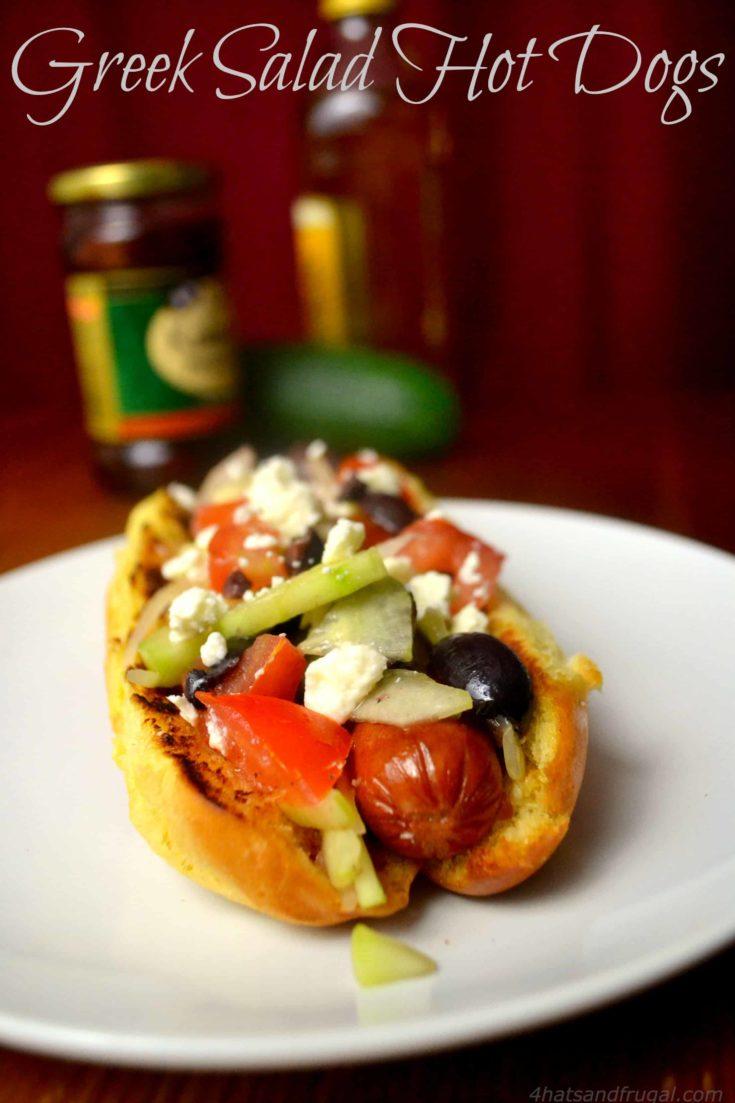 Greek Salad Hot Dogs