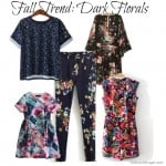 This fall, dark florals will be a hot trend. Here are a few selections that won't break the bank.