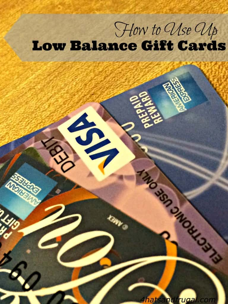 This is a great tutorial on how to use up low balance gift cards. Bookmark it for after the holiday season!