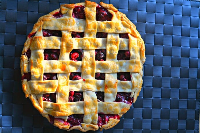 Looking for a great cranberry pie to make this holiday season? This one uses fresh cranberries, dried cranberries, and cranberry sauce!