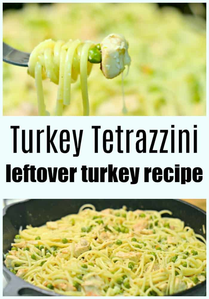 This turkey tetrazzini recipe is a great way to use thanksgiving leftovers! It's a fast meal that's perfect for weeknight dinners.