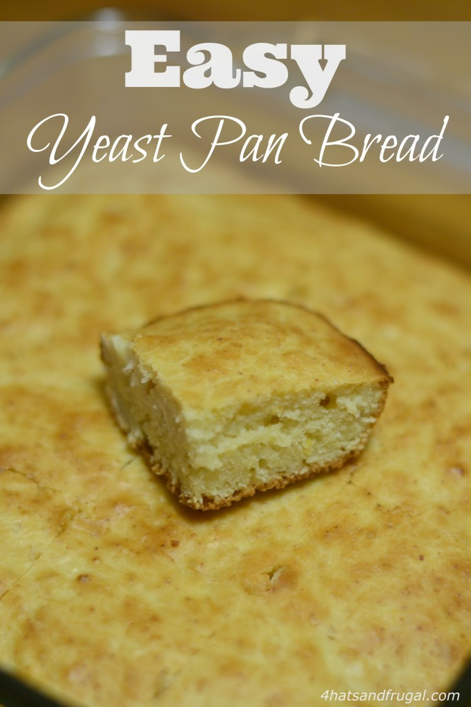 Looking for an easy yeast bread to make with your soup dinner? This one bakes in an 8x8 pan and is ready in less than an hour!
