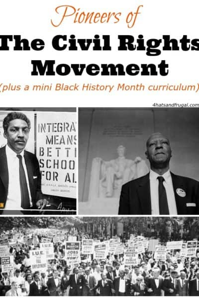 Are you looking to teach your kids more than the usual Black History Month topics? This mini curriculum about the Pioneers of The Civil Rights Movement is the perfect solution!