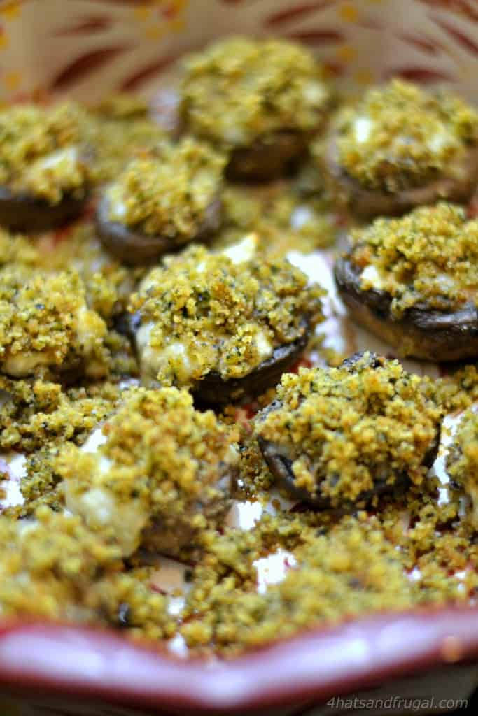 This delectable recipe for Italian Stuffed Mushrooms has a fun secret ingredient. Click to see what it is!