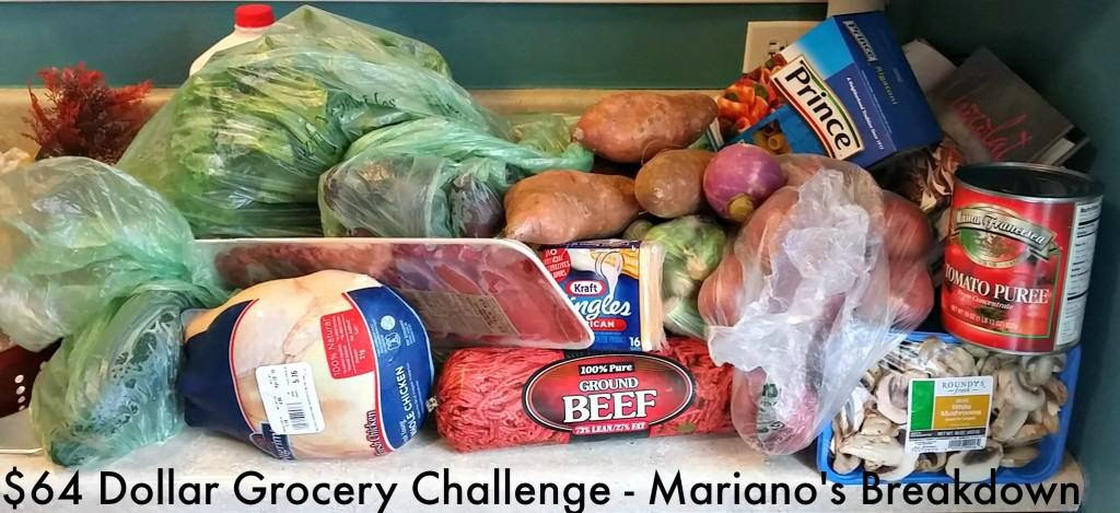 This mom shows how to shop at Mariano's grocery store, for a family of 6, with a $64 budget. So awesome!