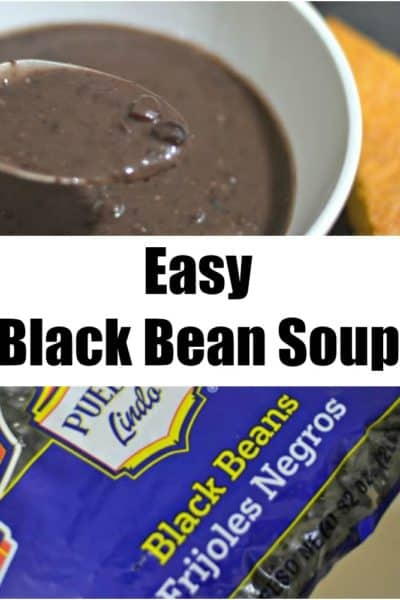 This great recipe for black bean soup is a delicious money saver, and hearty to boot! It's a great Meatless Monday meal.