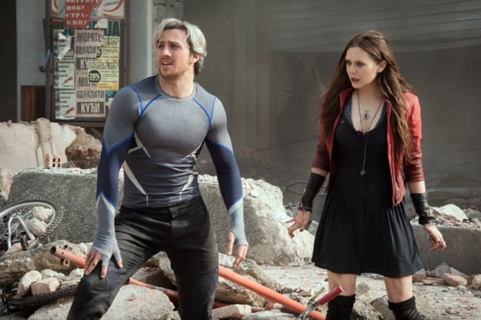 Avengers: Age of Ultron - Aaron Taylor-Johnson and Elizabeth Olsen #AvengersEvent