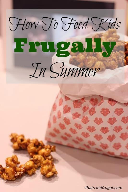 There are lots of way to feed kids frugally, espcially when school is out! Here are some hacks from a frugal mom, that will keep the kids full and happy.
