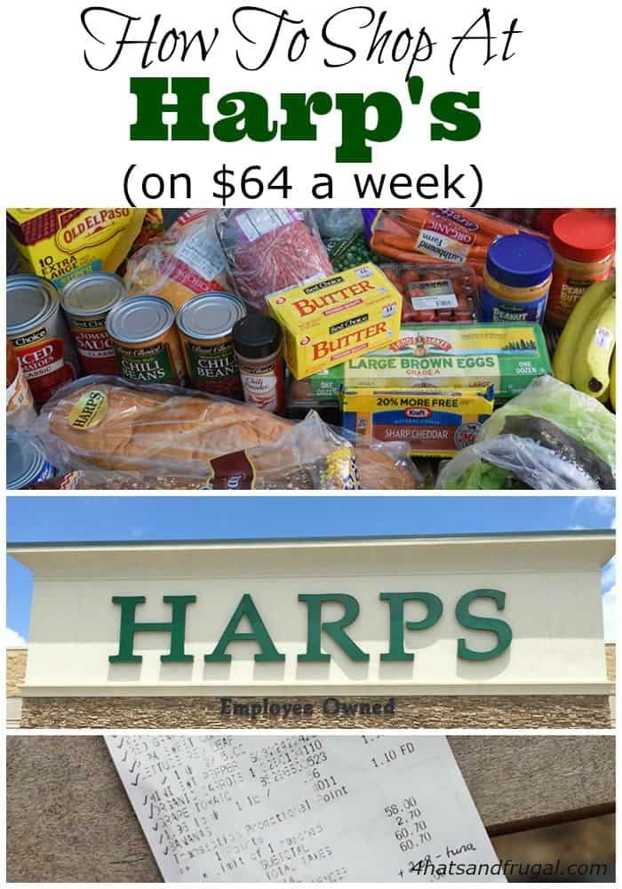 Trying to figure out how to shop at Harp's on a small grocery budget? Check out this post for some easy tips!
