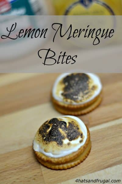 This quick snack is a delicious spin on the original lemon meringue pie dessert.