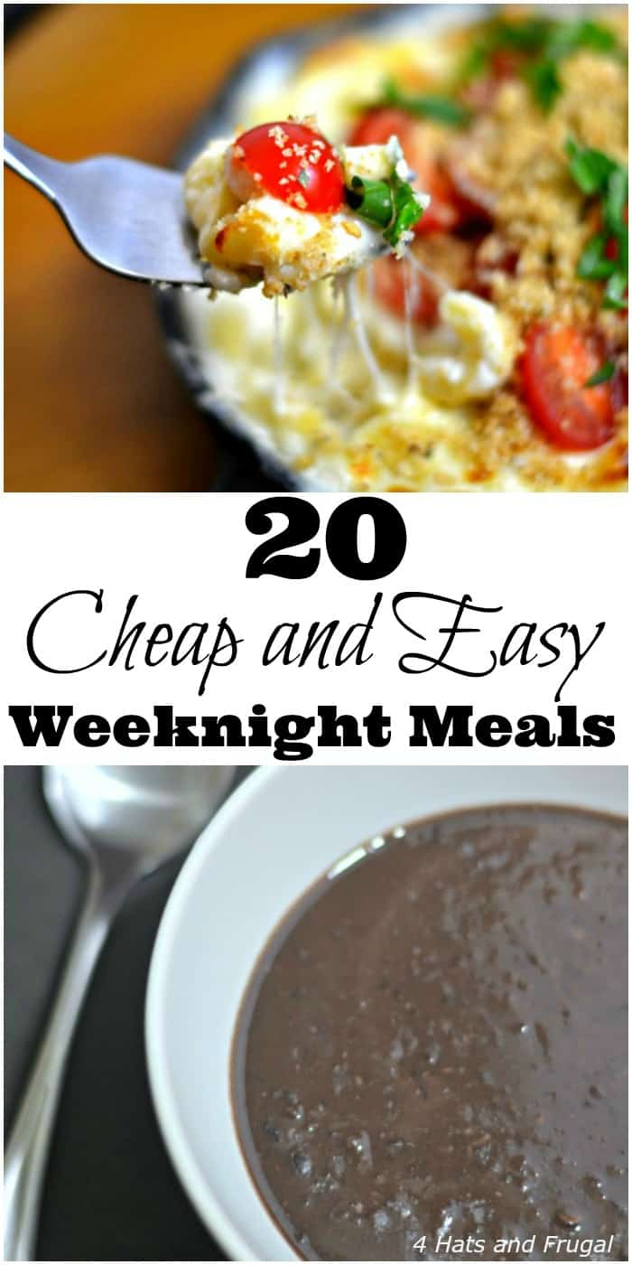 Need cheap and easy weeknight meals for your busy family to use during the school year? These 20 meal options are delicious and frugal!