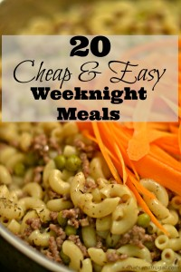 Need cheap and easy weeknight meals for those busy weeks? These 20 meal options are delicious and frugal!