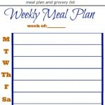 No Frills Meal Planning Printable