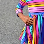 Colorful Striped Dress Just for Girls