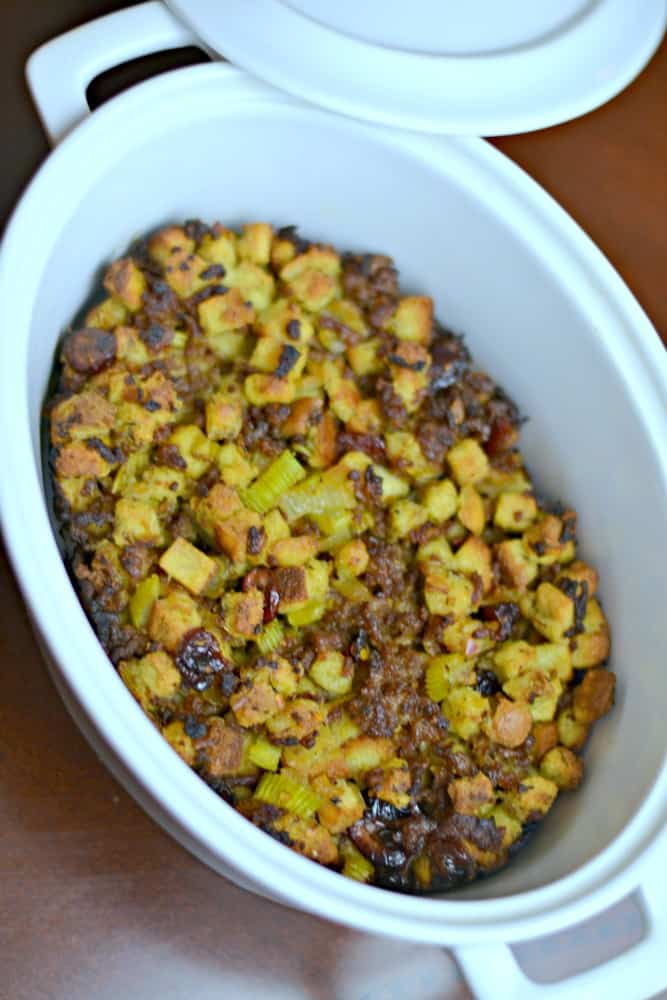 This stuffing recipe is so delicious! If you're looking for a new Thanksgiving stuffing recipe to try, give this one a go. #SausageFamily #ad