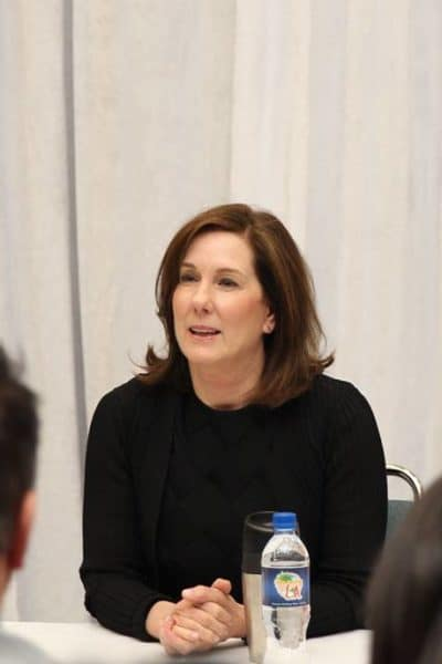 Exclusive interview with President of Luscafilm, Kathleen Kennedy. #StarWarsEvent