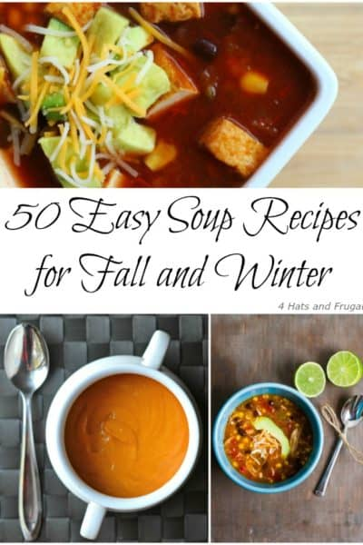 This list of 50 easy soup recipes was so helpful when I made my meal plan this week! Most are money-saving, and I love the list of slow cooker ones.