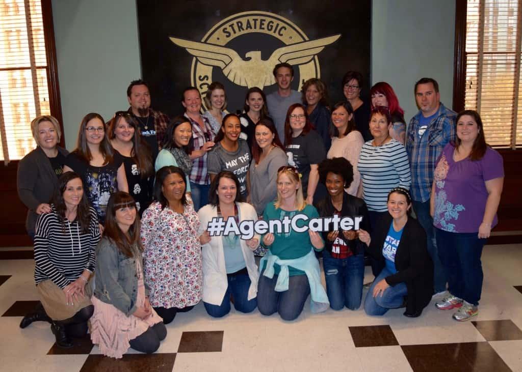 Agent Carter set visit
