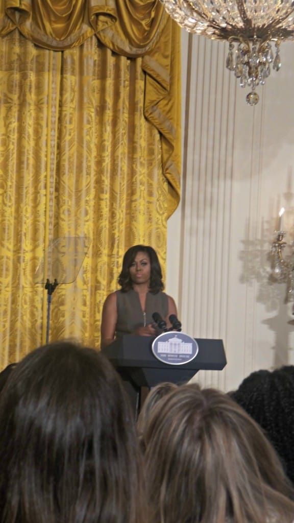 First Lady Michelle Obama Talks Let's Move with Bloggers