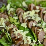 Beer Bratwurst Salad with Creamy Mustard Dressing