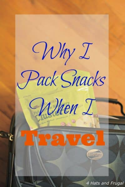 Do you pack snacks when you travel? Here are a few reasons why this mom always has a healthy snack, or two, on hand when she travels.