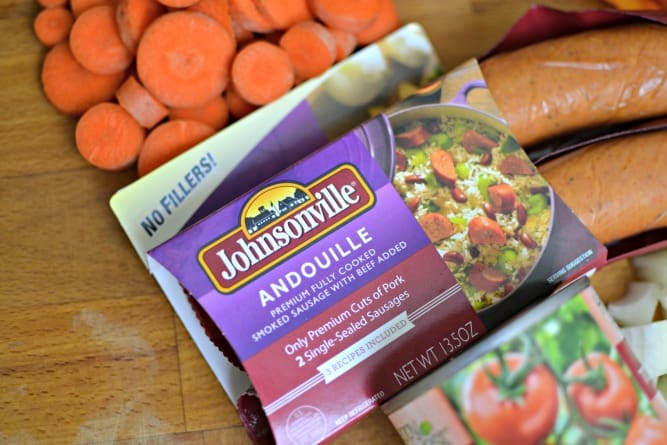 This andouille stew is so easy, delicious, and perfect for a weeknight dinner. #SausageFamily #sponsored