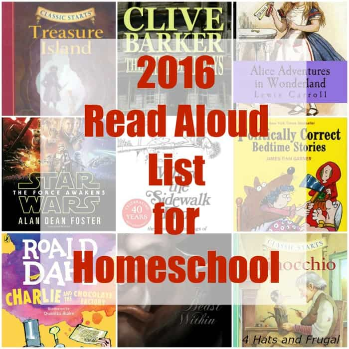 This mom created her family's read aloud list for homeschool by searching her home library. Check out her picks for 2016 and 2017!