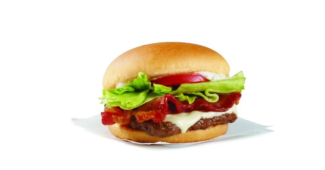 Wendy's Swiss Jr. Bacon Cheeseburger