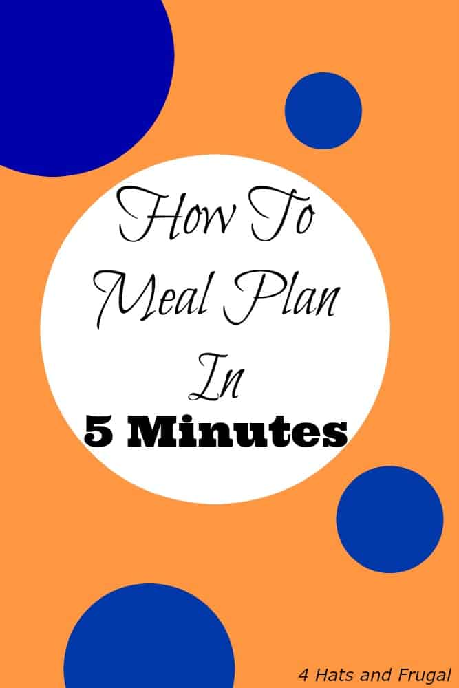 Want to know how to meal plan in 5 minutes? It's possible, and YOU can do it with these simple steps!