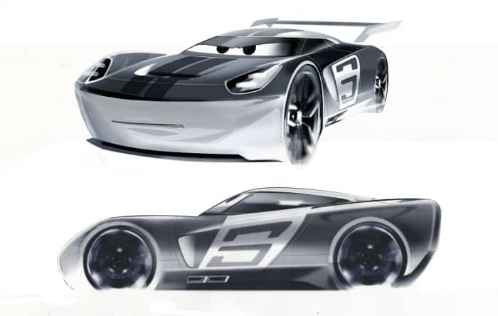 CARS 3 (Pictured) - Concept art of Jackson Storm by J Mays, Former Global Design and Retired Chief Creative Officer of Ford ©2017 Disney•Pixar. All Rights Reserved.