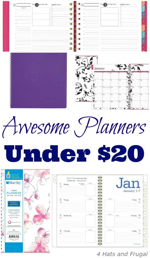 Looking for affordable planners under 20 dollars? This list has some awesome ones!
