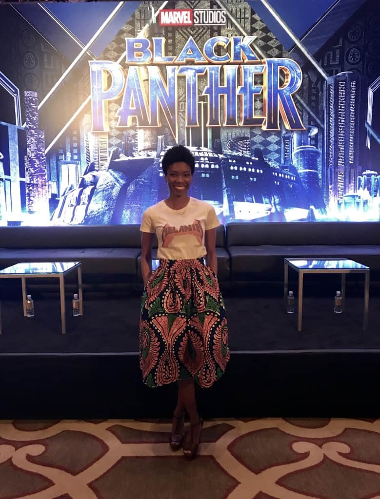 Black Panther Press Conference Amiyrah Martin