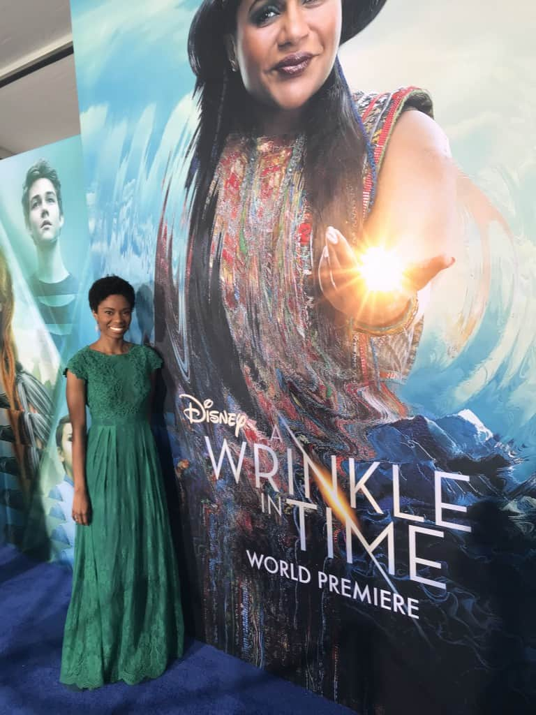 A Wrinkle In Time red carpet Amiyrah Martin
