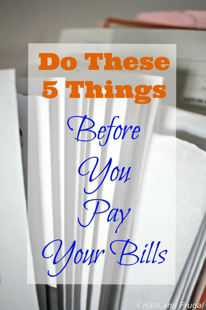 Struggling with paying your bills on time? You're not alone. These are 5 things to do before you pay your bills, so you can get back to zero.