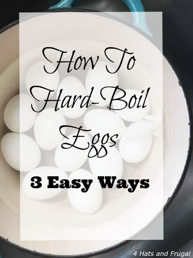 Want to know how to hard boil eggs, and have them come out perfectly? Here are 3 easy ways to get it done.