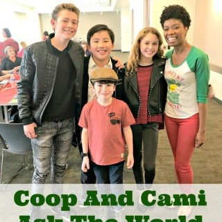Coop and Cami Ask The World Cast Interview