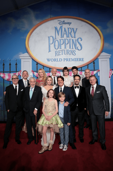Mary Poppins cast red carpet