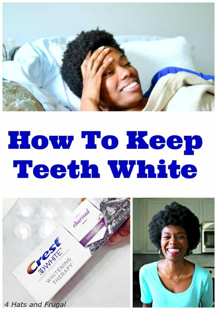 "This mom of 3 is asked constantly how she keeps her teeth white, so she shares her ""how to keep teeth white"" tricks in this article."