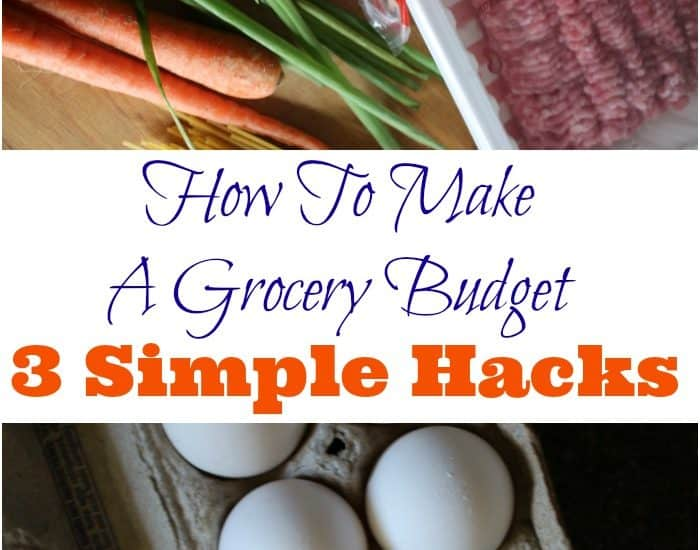 Did you know there are 3 simple ways to make a grocery budget? And yes, they're personalized for your family. This posts shares all 3 grocery budget hacks.