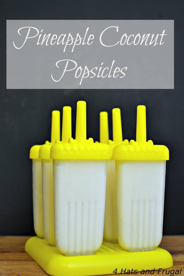 This 3 ingredient pineapple coconut popsicles recipe will be a summer favorite for you and your family, especially if you love refreshing frozen desserts!