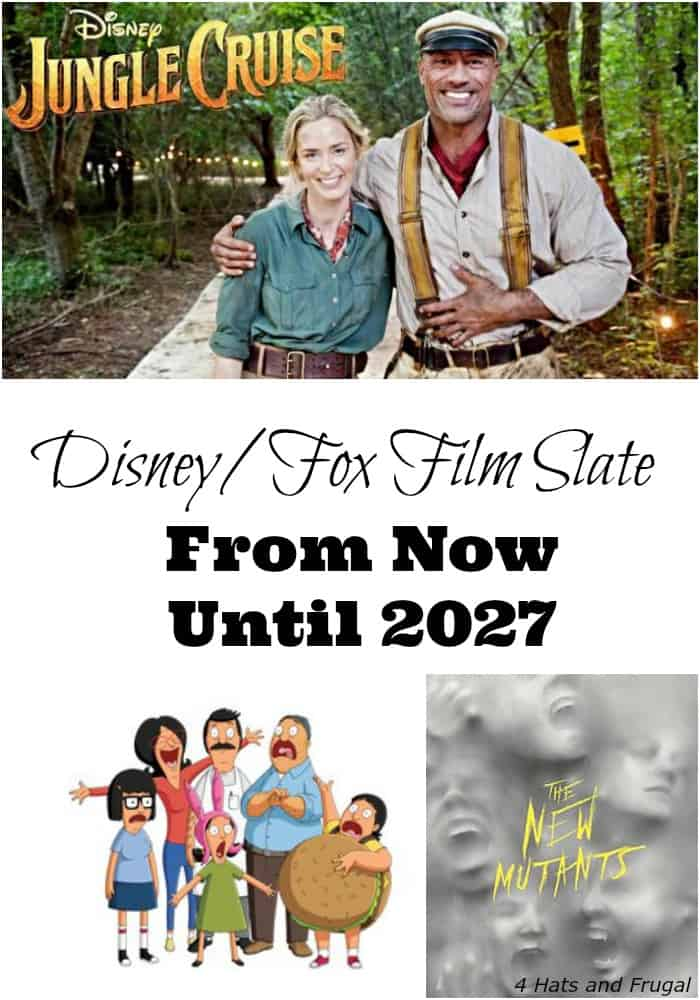 The full Disney film slate and Fox film slate from now until 2027 has been released! This post has the full list, and one film that was removed from slate.