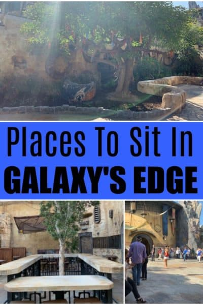 Visiting Galaxy's Edge soon? Here are the top places to sit in Galaxy's Edge, when you need a break from the crowds or just want to take it all in.