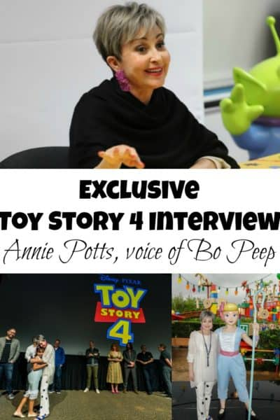 This exclusive Toy Story 4 interview with Annie Potts, voice of Bo Peep, gives lots of insight into the much-needed evolution of this beloved character.