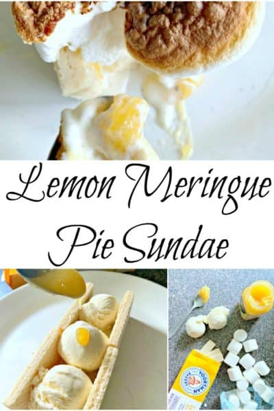 If you love lemon meringue pie, or sundaes, this lemon meringue pie sundae recipe will rock your world.